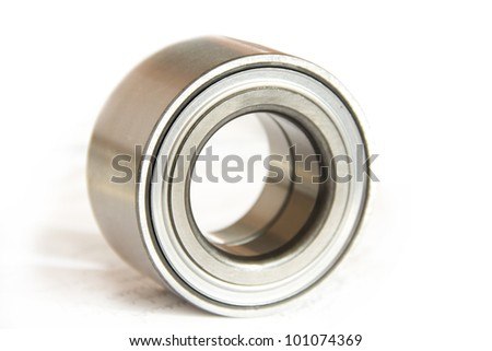auto parts: bearing on a white background - stock photo