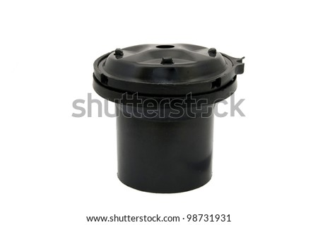 Auto Parts detail filter on a white background - stock photo
