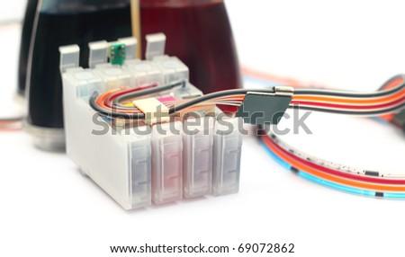 Auto refillable printer cartridge - stock photo