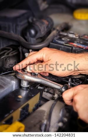 Auto Repair Shop - stock photo