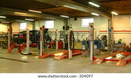 Auto repair workshop - stock photo
