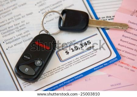 Auto sale - stock photo
