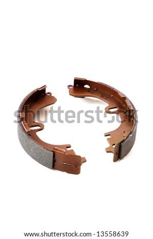 auto spare parts - drum brake shoe - stock photo