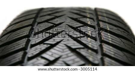 auto tire isolated on white. - stock photo