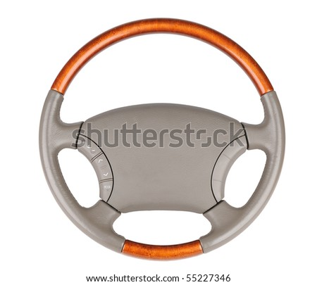 Auto wheel isolate - stock photo