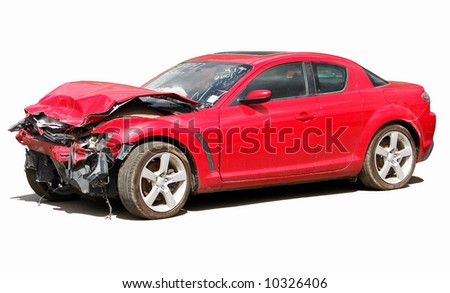 auto  wreck - stock photo