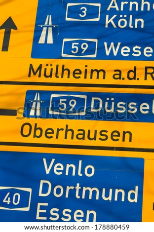 Autobahn - stock photo