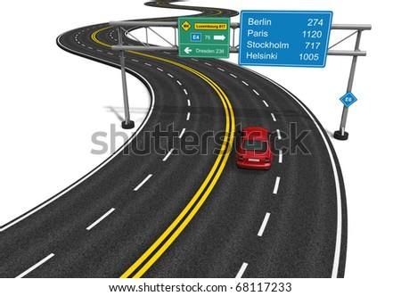 Autobahn concept - stock photo