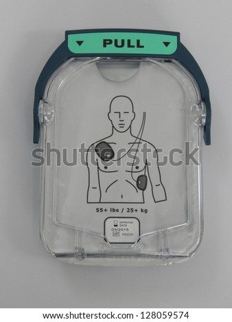Automated External Defibrillator pads.