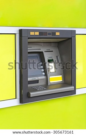 Automated Teller Machine Hole in the Wall - stock photo