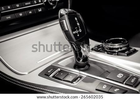 Automatic car transmission - stock photo