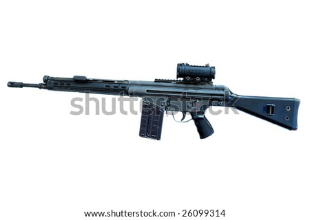 automatic carbine 4, a good rifle that the military use - stock photo