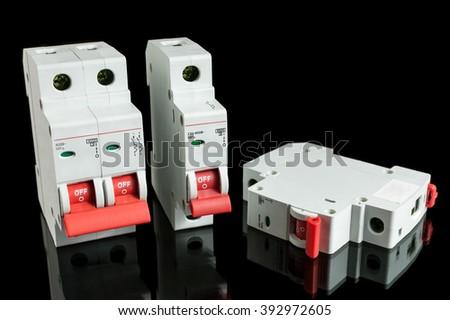 Automatic circuit breaker - stock photo