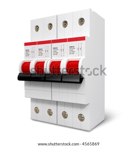 Automatic electricity switcher 3d model isolated - stock photo