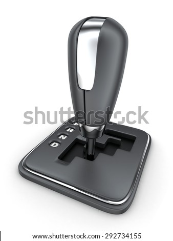 Automatic gearbox car (done in 3d) - stock photo