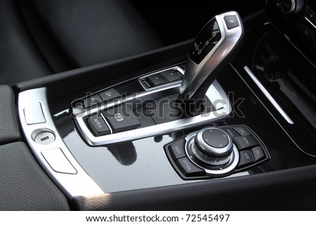 Automatic gearbox shifter - stock photo