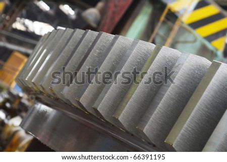 automatic milling cutter in heavy industry machinery - stock photo