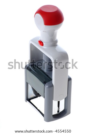 automatic rubber stamp - stock photo