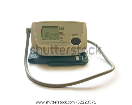 Automatic tonometer isolated on the white background