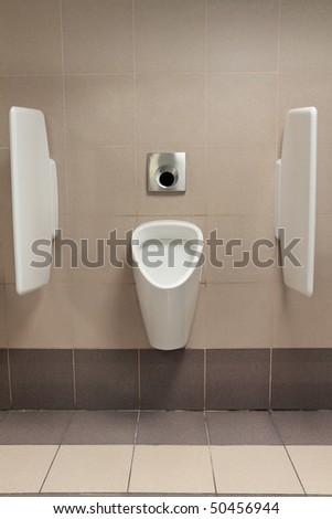 Automatic urinal in a modern toilet