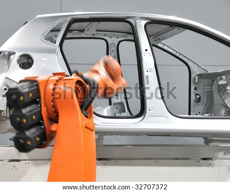 Automation - car industry - stock photo
