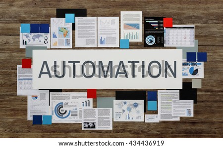 Automation Manufacture Operation System Concept - stock photo