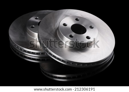 Automobile brake rotors - stock photo