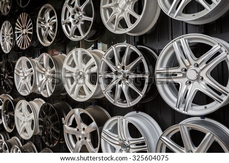 Automobile drives, aluminum, alloy, horizontal von - stock photo