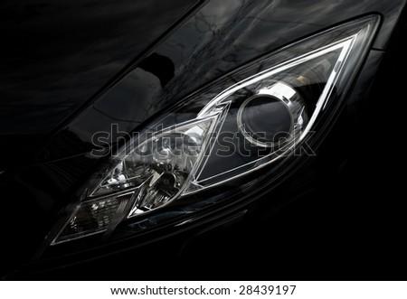 Automobile front optics - stock photo
