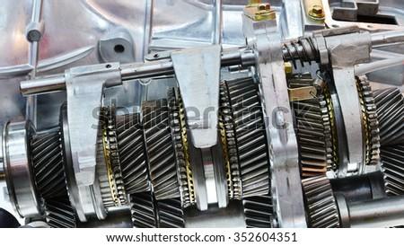 automobile gear  - stock photo