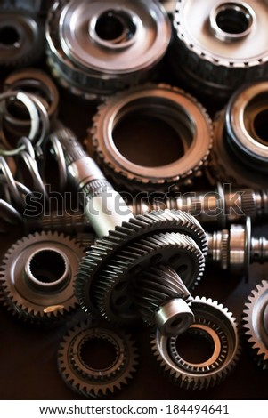 automobile gear assembly  - stock photo