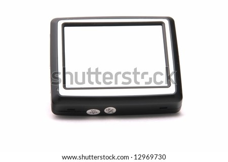 Automobile GPS Navigator on a white background - stock photo