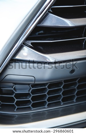 Automobile grille close up