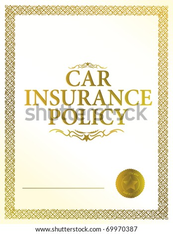 automobile insurance policy - stock photo