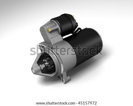 automobile starter - stock photo