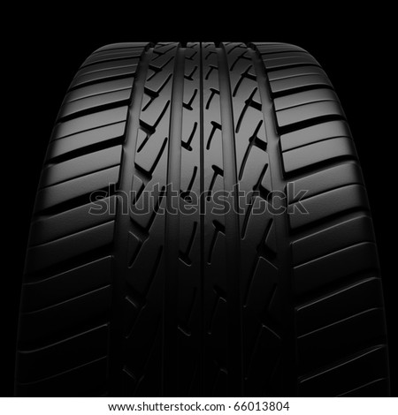 Automobile tires (clipping path) - stock photo