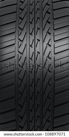 Automobile Tires render (close-up detail) - stock photo