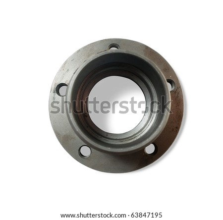 automobile wheel hob. Isolated on white with clipping path - stock photo