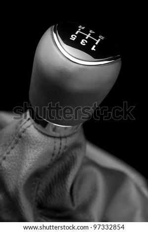Automotive gear lever. - stock photo