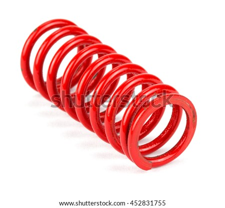 automotive suspension springs on a white background - stock photo