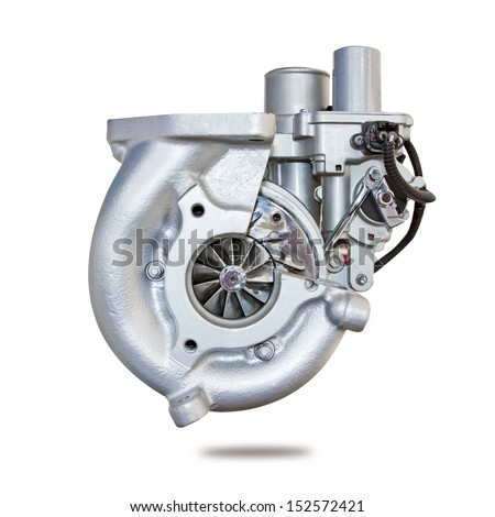 Automotive turbocharger of car - stock photo