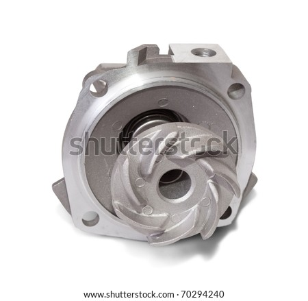 automotive water pump. Isolated on white with clipping path