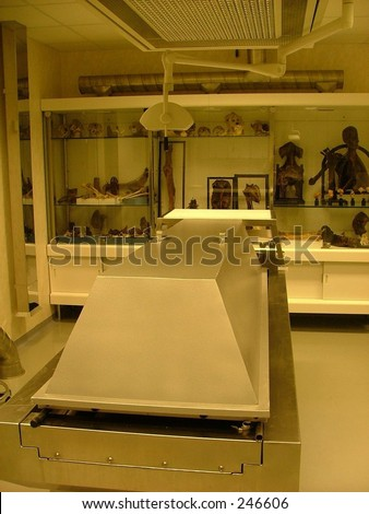 autopsy room in medical faculty