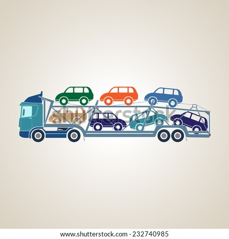 Autotransporter - stock photo
