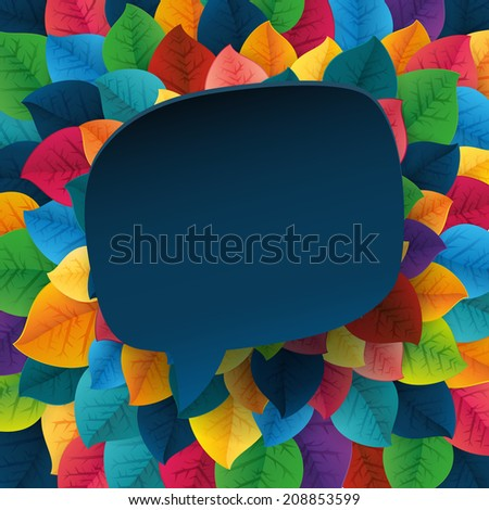 Autumn abstract fall leaves bubble background. Simple shapes, bright colors pattern for the fabric, web, print. Rainbow colors will make fun of you
