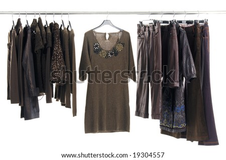 Autumn and winter clothes rack Display