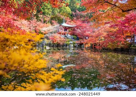 Autumn at daigoji temple , Kyoto ,Japan - stock photo