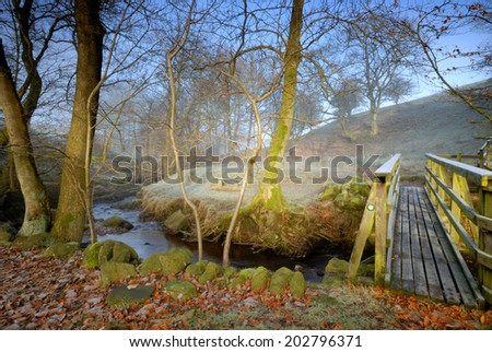 Autumn at Wycollar  - stock photo