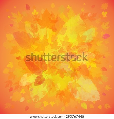 Autumn background from leaves with place for your text