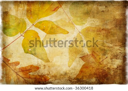 autumn background in retro style